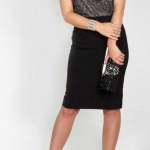 Black Pencil Skirt with Pocket